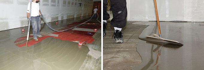 Self Leveling Underlayment Installation. Photos Courtesy LATICRETE  International.