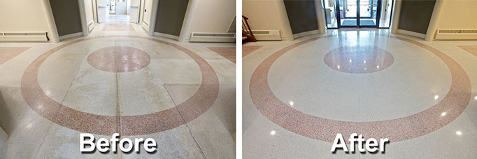 The MJA Co Terrazzo Restoration - How to clean old terrazzo floors
