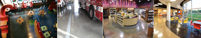 Diamond-polished concrete floors