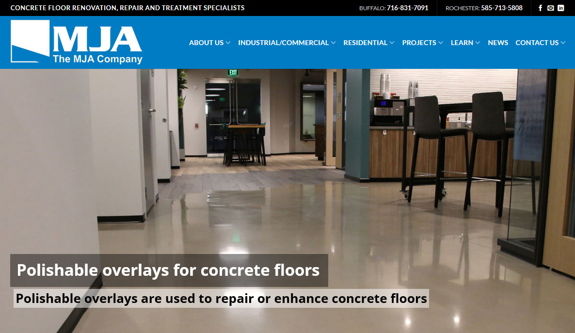 The Mja Company Launches New Website Concrete Repair