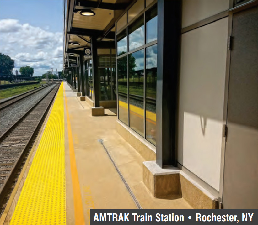 Amtrak Train Station Concrete Finishing