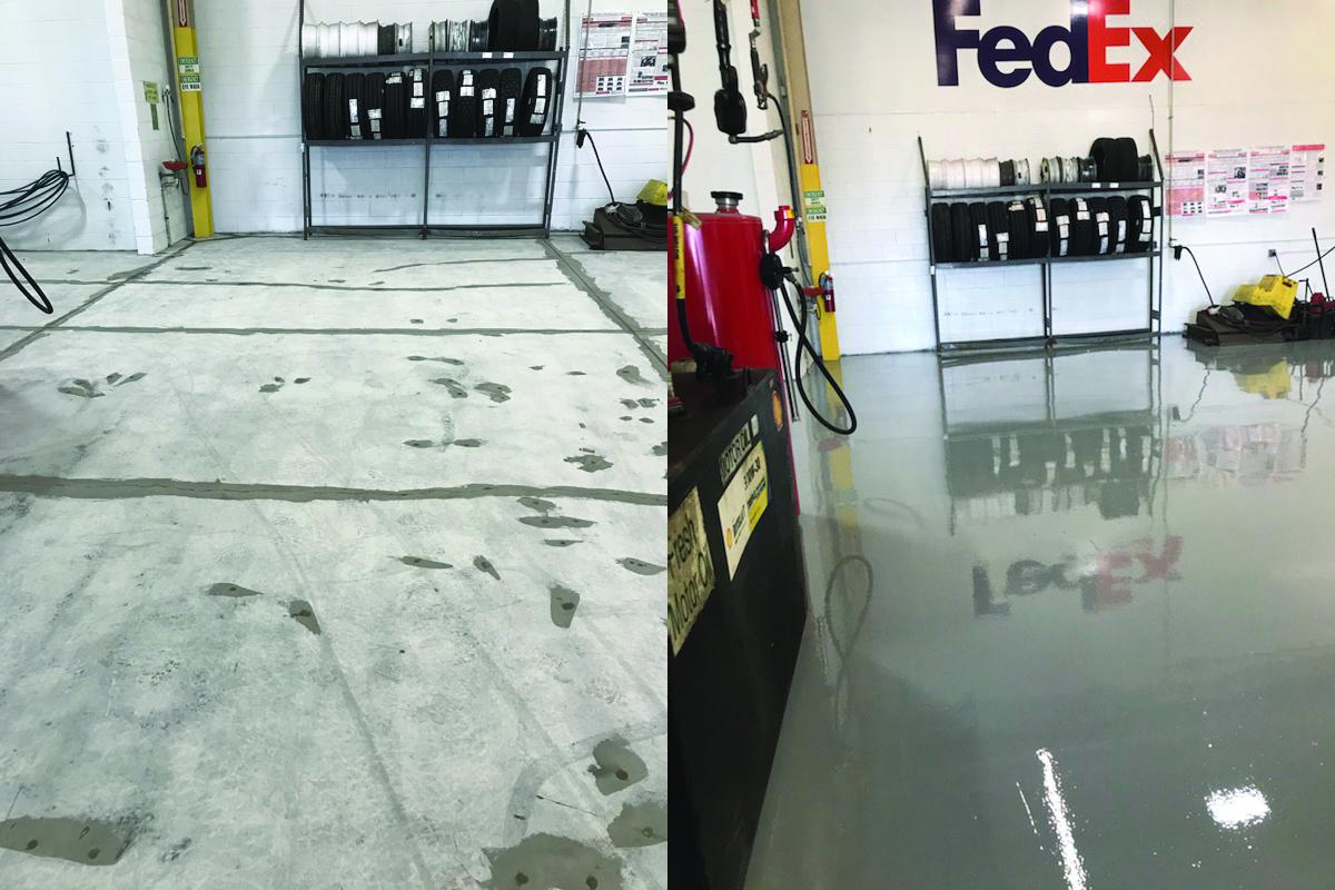 FedEx Concrete Floor Renovations