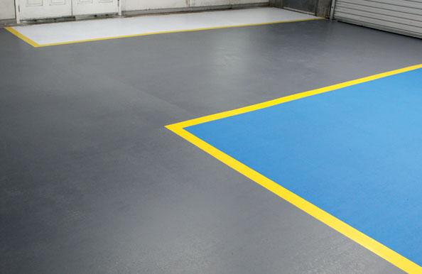 Completed floor coating using DiamoPro UV-HSPlus